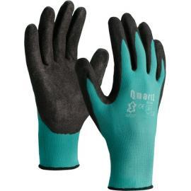 Green nylon gloves with nitrile sandy finish coating - 5072SF Quartz