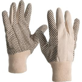 Gloves with black dot palm - 8011