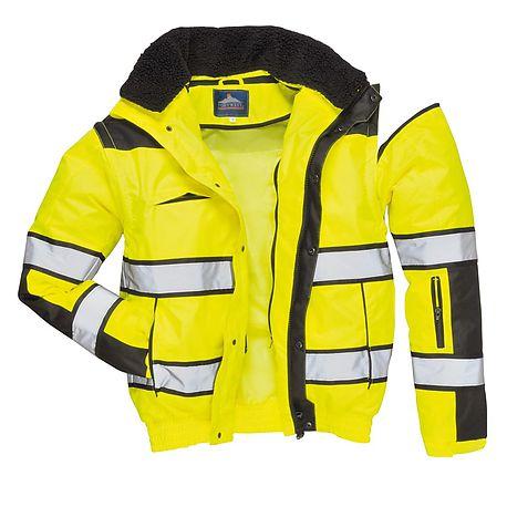 dcc83d407 HV Classic bomber jacket (Yellow/Black) - C466 - PORTWEST