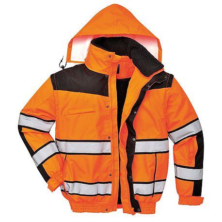 HV Classic bomber jacket (Orange/Black) - C466 - PORTWEST