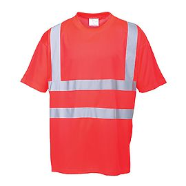 High Visibility T-shirt Red - S478