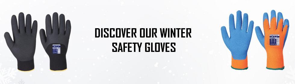 Winter safety gloves